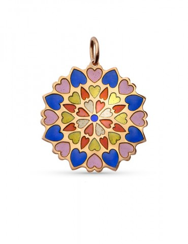 Coeurs Multicolore Pendentif