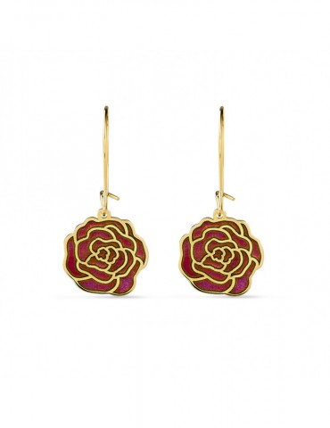Boucles d'Oreilles Roses rose PM