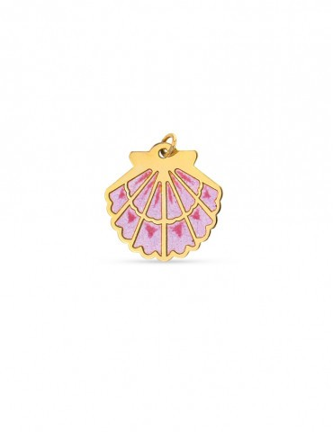 Pendentif Coquille St Jacques rose PM